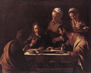 Le souper à Emmaüs, 1606, Huile sur toile, Milan, Pinacoteca di Brera